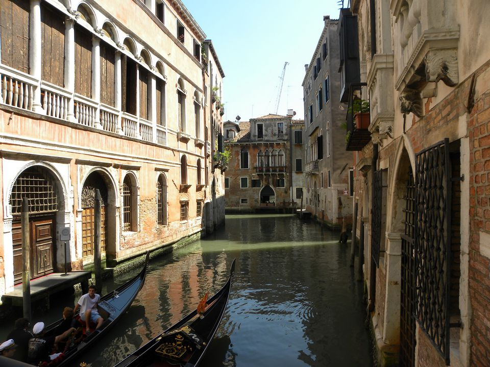Canals and gondolas of Venice