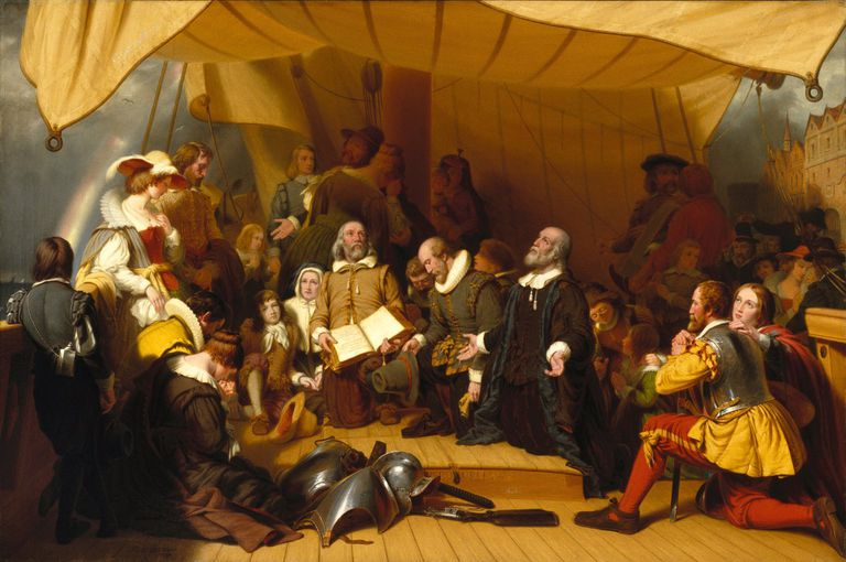 Embarkation of the Pilgrims from the Mayflower