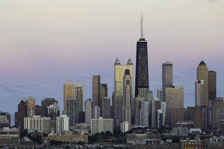 Skyline of Chicago, Illinois, Birthplace of the Skyscraper
