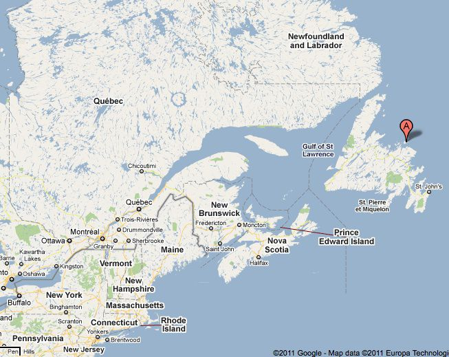 Overview Of Fogo Island Newfoundland - Newfoundland map