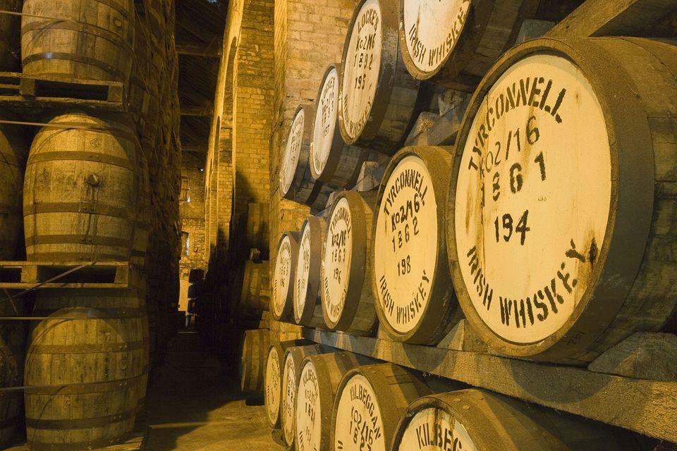 rish Whiskey Barrels, Tyrconnell Irish Whiskey, Locke's Distillery Museum, Kilbeggan, County Westmeath, Ireland