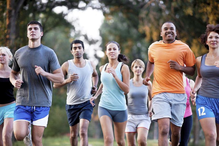 Marathon runners.