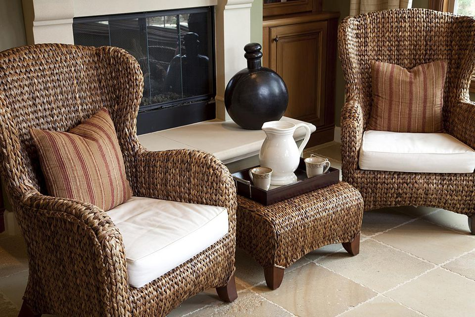 How to clean and maintain wicker patio furniture for Cleaning living room furniture