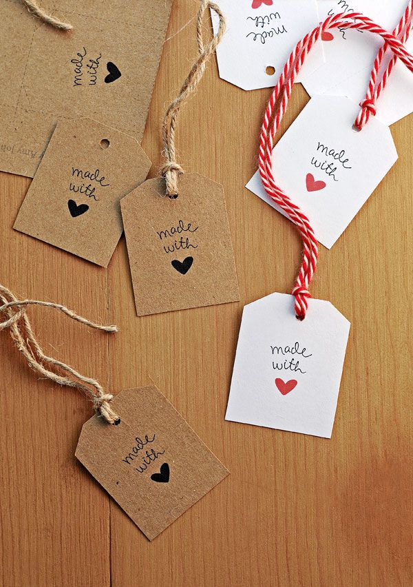 11 sets of free printable gift tags for anytime of year made with love gift tags from she wears many hats negle Gallery