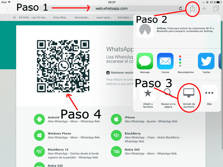 como instalar whatsapp en ipad air y ipad mini