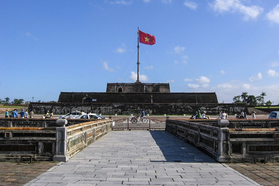 Flag Tower overlooking Ngo Mon Square, Citadel, Hue.