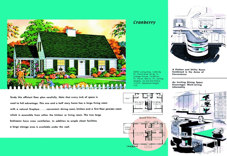 Cape cod house plans 1950s america style for 1950 s house plans