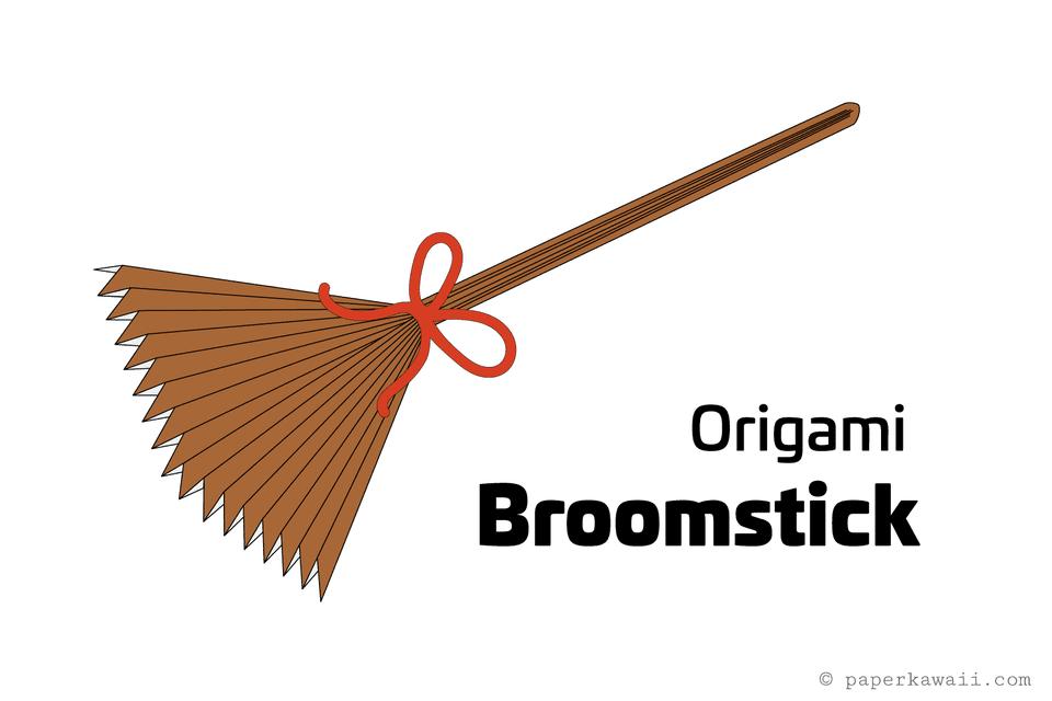 easy origami broomstick tutorial 01