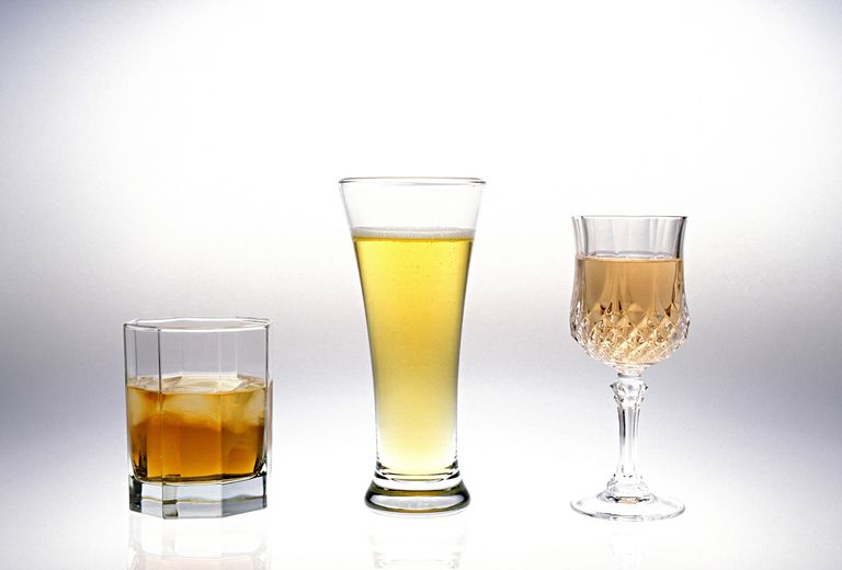 How proof works: 1-1/2 ounces of 80 proof liquor is equal in alcohol content to 12 ounces of beer or 5 ounces of wine.