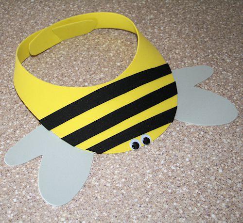How to Make a Bumble Bee Craft Foam Visor
