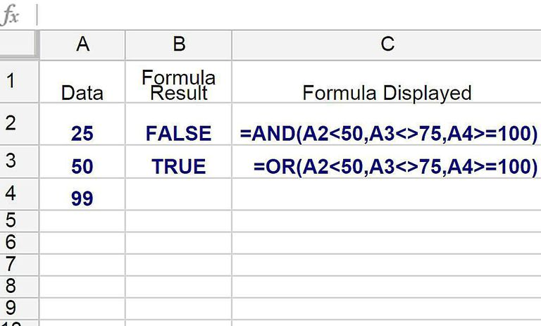Test Multiple Conditions with Google Spreadsheets AND/OR Functions