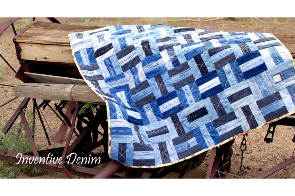 Make a Gorgeous Denim Quilt from Blue Jeans : jean quilts ideas - Adamdwight.com