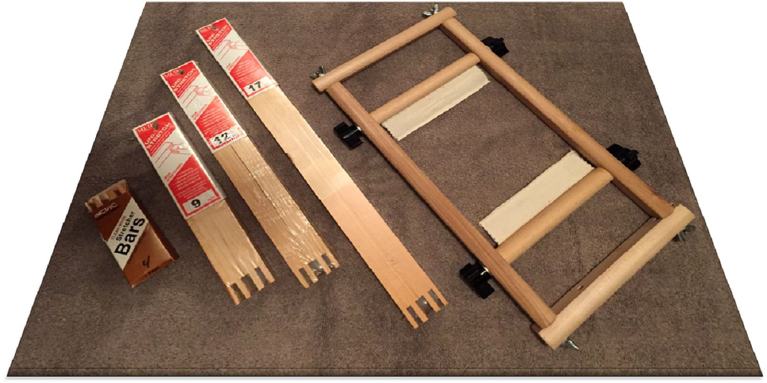 Use Stretcher Bars Frames To Work A Needlepoint Project