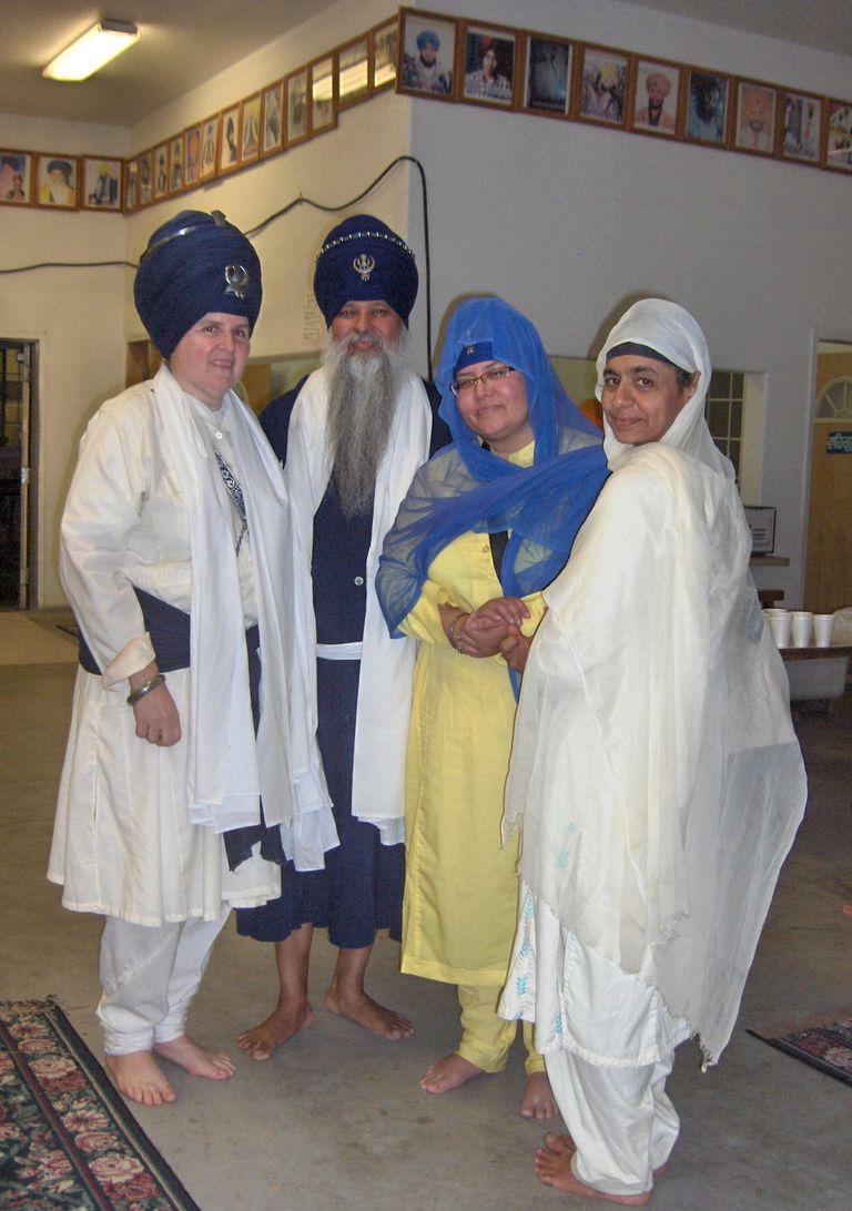 Sikhs Garbed in Traditional Spiritual Attire