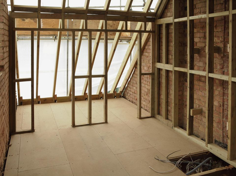 Empty attic space being rennovated