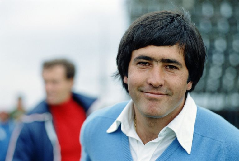 Golfer Seve Ballesteros pictured in 1977.