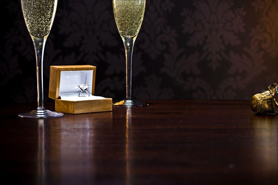 Champagne and diamond