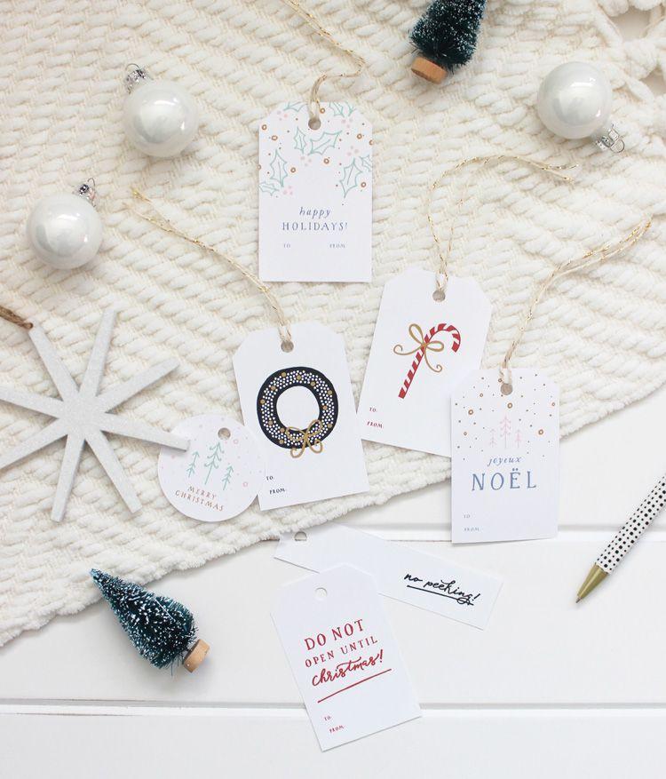 DIY Classic Christmas Gift Tags