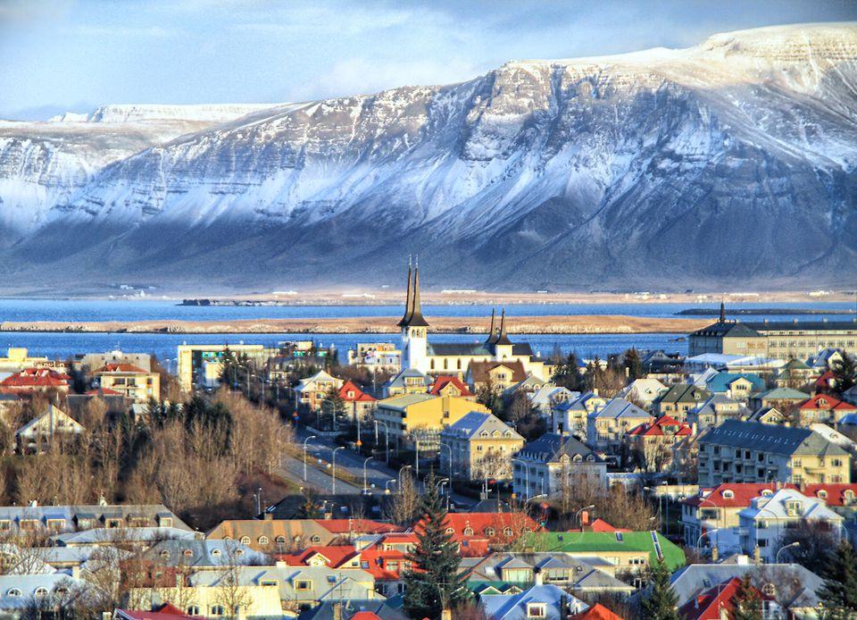 Reykjavik cityscape in Iceland