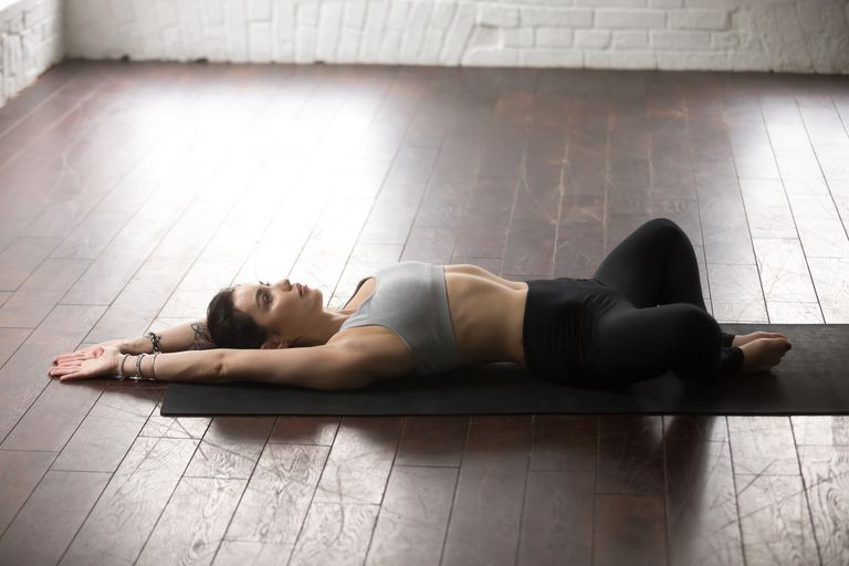 Reclined goddess pose