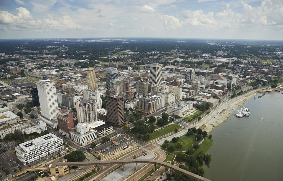 Aerial view of Memphis, Tennessee