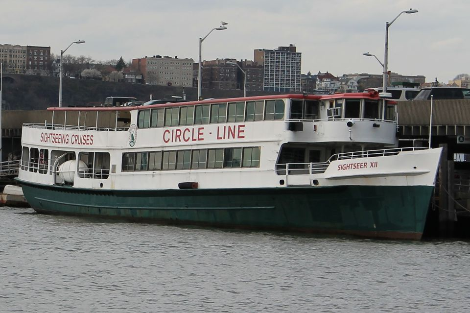 A Circle Line sightseeing boat.