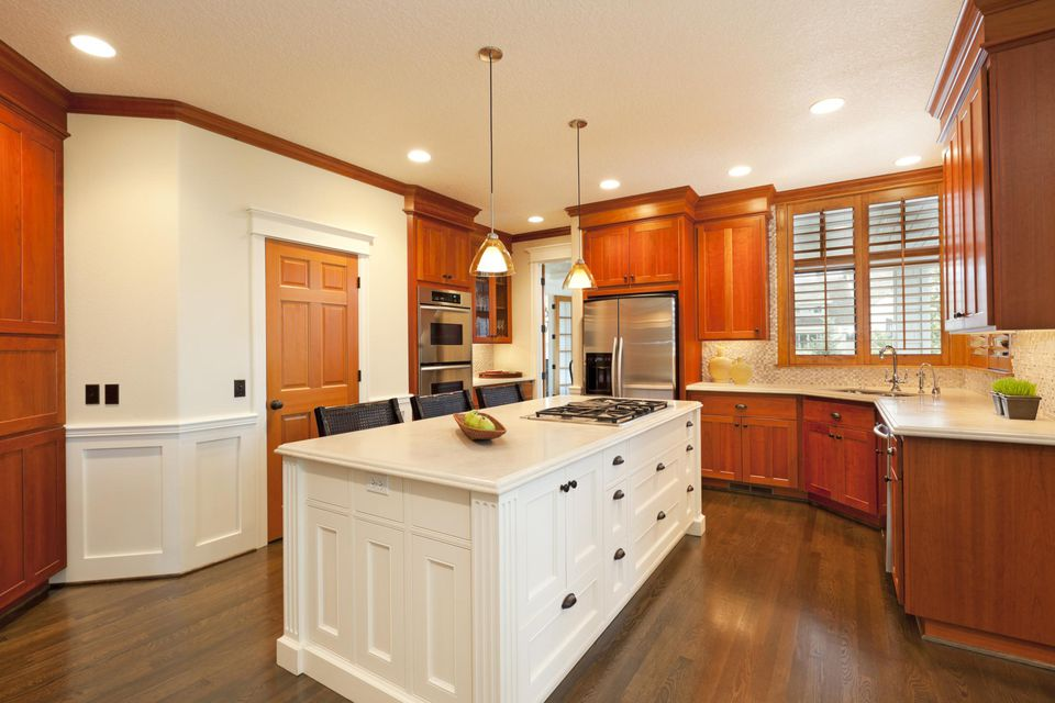 Beautiful kitchen in luxury home.