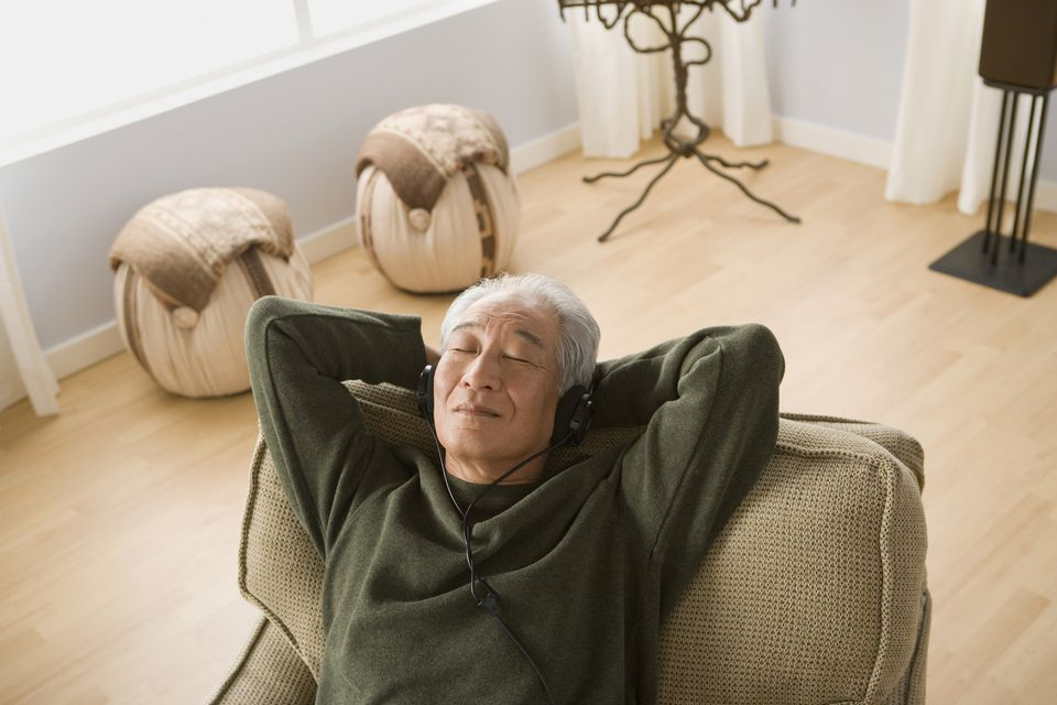 Man sitting in reclining chair