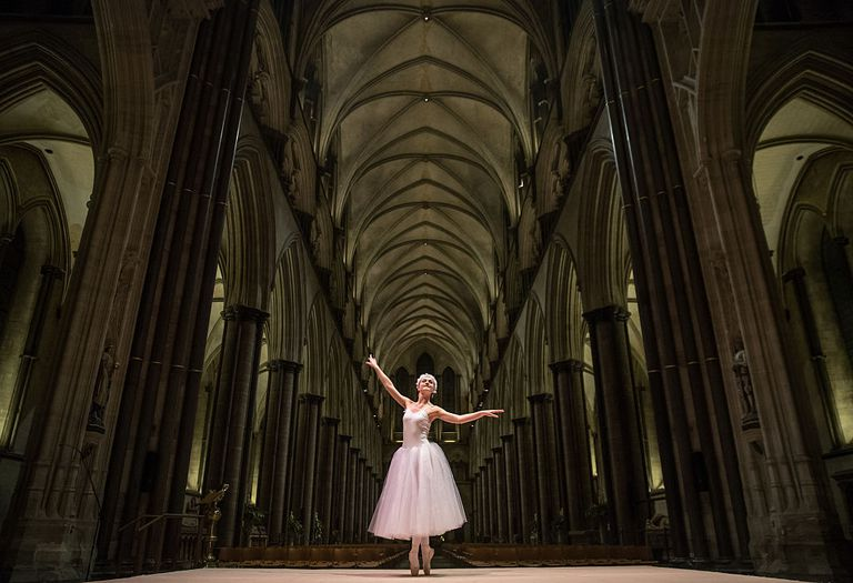 The Dress Rehearsal Of A Winter's Trail Takes Place At Salisbury Cathedral