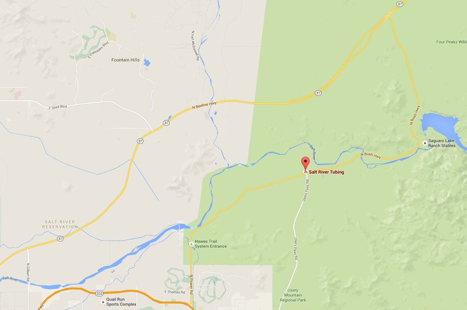 Map to Salt River Tubing