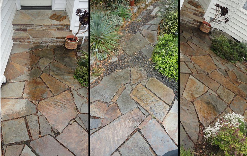 Smooth, Tight Flagstone Pathway