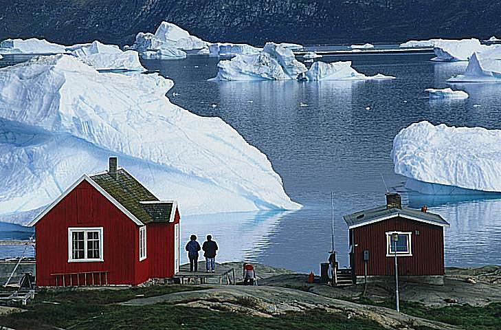 Icebergs near Greenland - Arctic