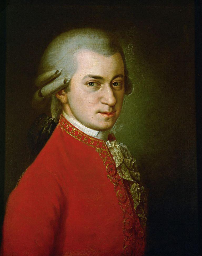 Wolfgang Amadeus Mozart. Posthumous portrait. Oil on canvas. 1819