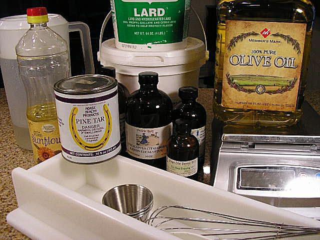Pine tar soap ingredients
