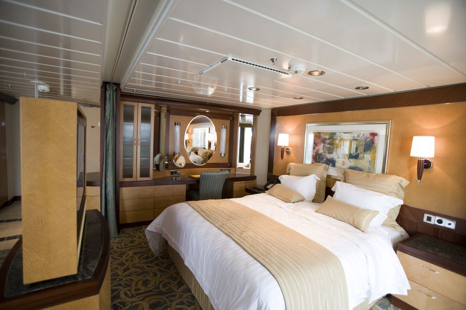 Bedroom of Ronin Suite, Freedom of the Seas Cruise Ship, Royal Caribbean International Cruise Line