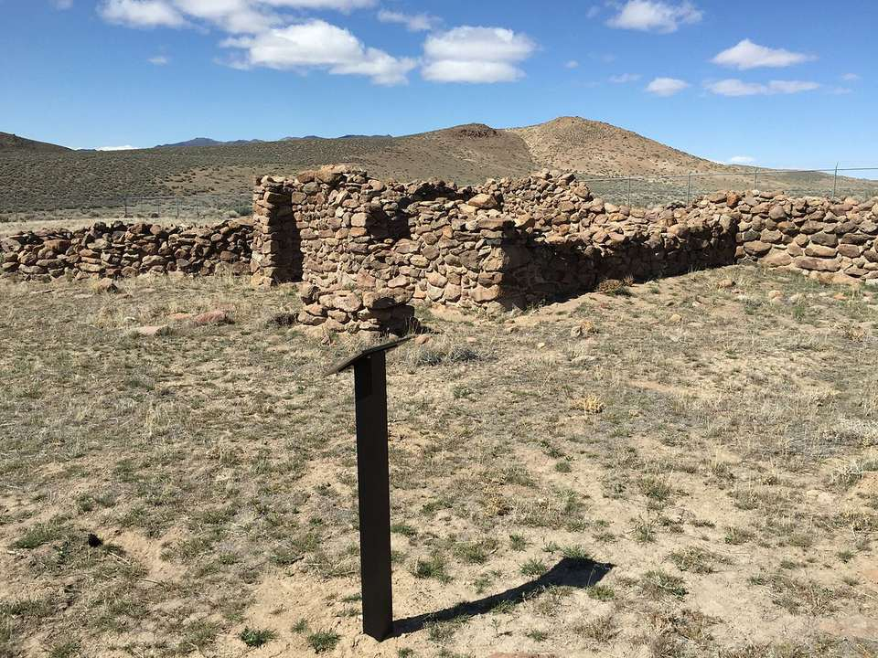 Stagecoach Station ruins in Nevada.