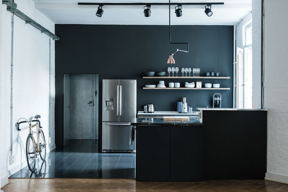 Dark gray kitchen