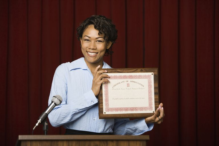 Awards and certificates are a great way to show employees how much you appreciate their efforts.