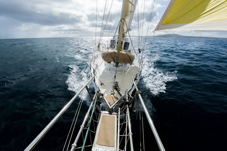 Yacht sailing on the Southern Ocean. Australia