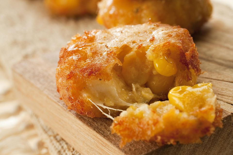Mini sweet corn fritters