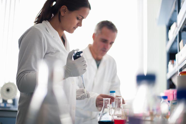 Intern working in laboratory