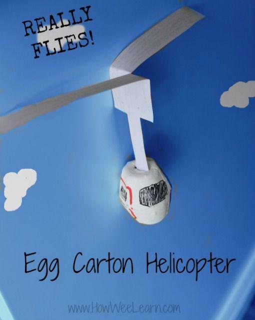 egg carton helicopter