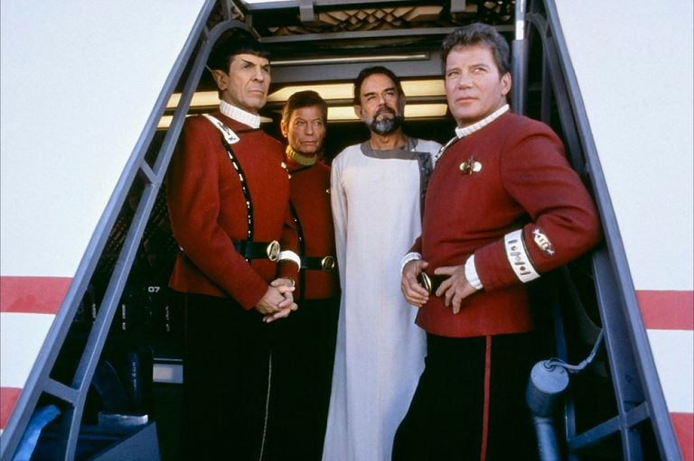 Kirk, Spock, McCoy, and Sybok