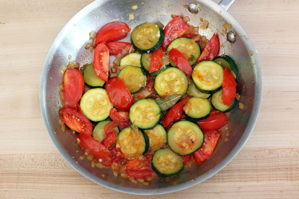 Zucchini and Tomato Skillet