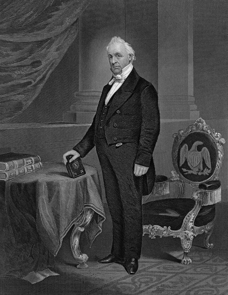 James Buchanan (1791-1868), 15th US President (B&W)
