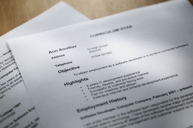 selective focus shot of resume