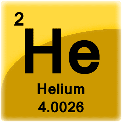 This is a periodic table tile for the element helium.