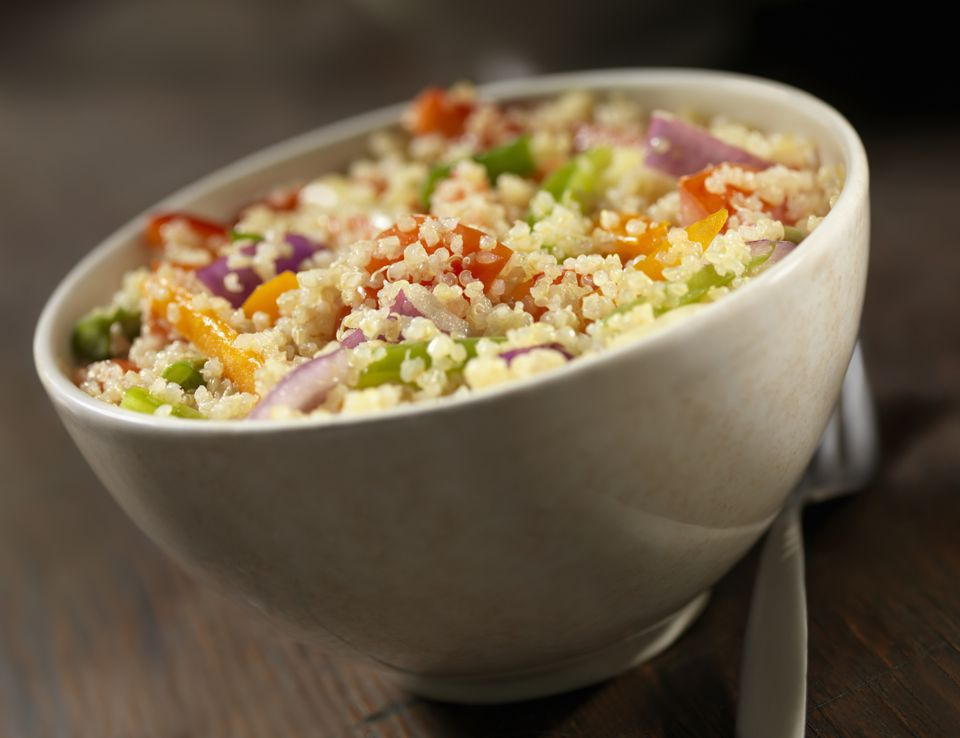 Vegan quinoa salad with vegetables