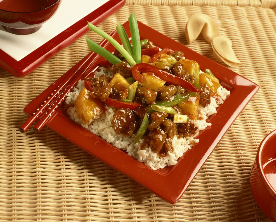 Sweet and Sour Pork entree