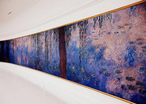 """A section of Claude Monet's """"Les Nymphéas"""", at the Musée de l'Orangerie in Paris."""